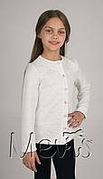 Кофта школьная на пуговицах для девочки.детская синяя кофточка.