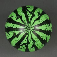 Мяч резиновый, арбуз, 60 гр  10шт/уп (500 шт1).