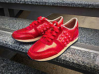 Женские Кожаные кроссовки Valentino (разные цвета) красные