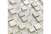 Мозаика мрамор стекло DAF14  2*2