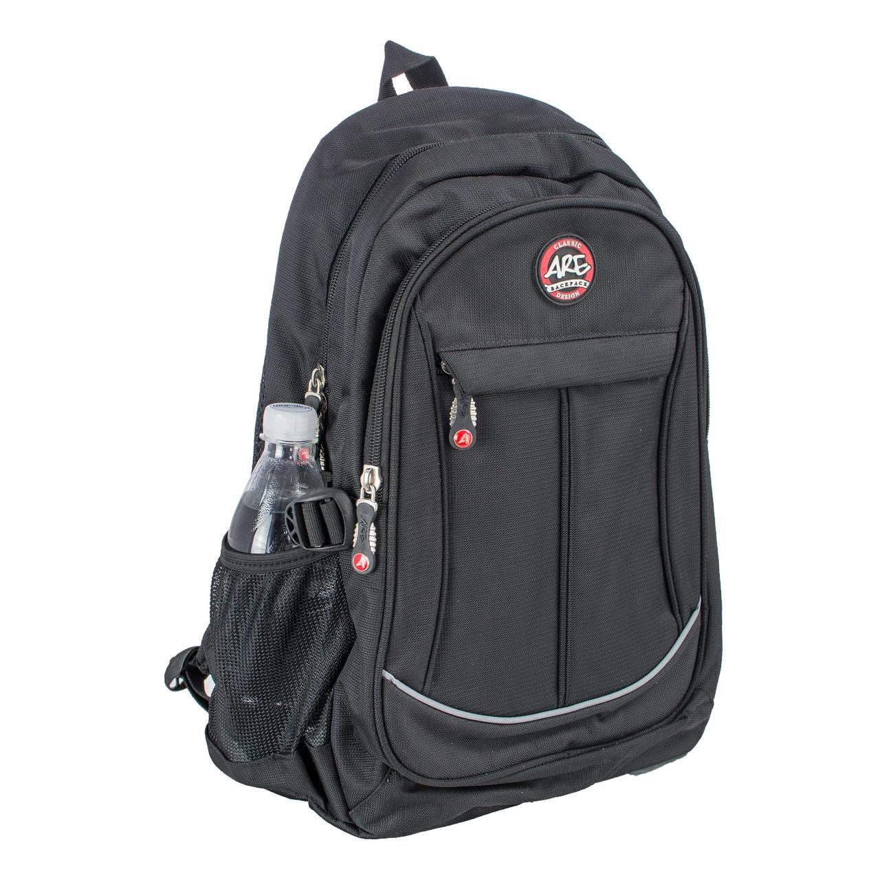 Черный ортопедический школьный рюкзак для подростков titanum ARE