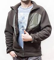 """Куртка флисовая """"Медведь"""" с 3 карманами и подкладкой на меху, 450 г/м², Олива, 44-60"""