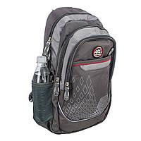 Серый ортопедический школьный рюкзак для подростков titanum ARE , фото 1
