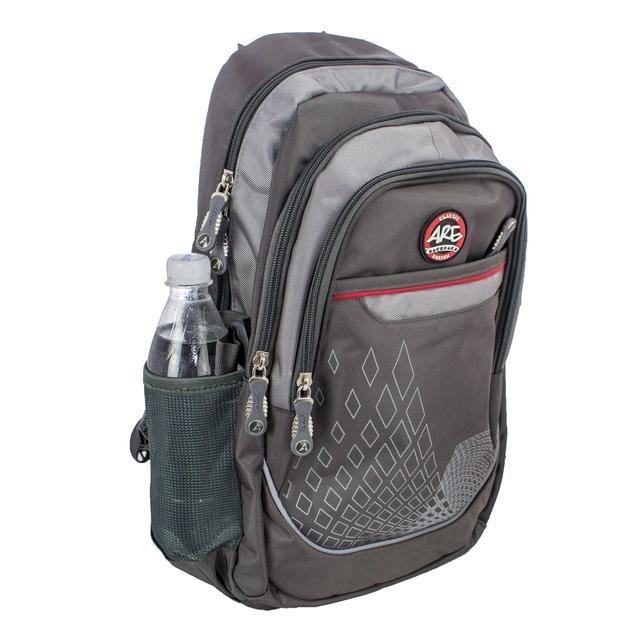 Серый ортопедический школьный рюкзак для подростков titanum ARE