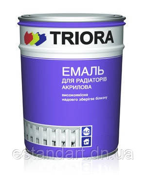 Эмаль для радиаторов белая 0,9кг TRIORA