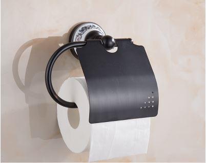 Настенный (подвесной) черный держатель бумаги 0444