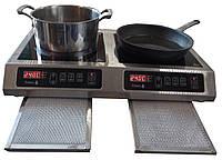 Настольная индукционная плита 2 конфорочная 2,2 кВт (710х445х105)