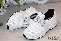 Женские туфли белые 6124