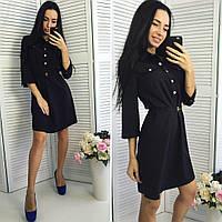 Красивое короткое платье с рукавом