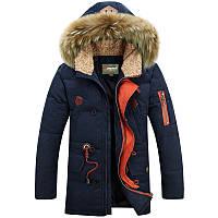 Мужская зимняя куртка парка пуховик JEEP, синий! РАЗМЕР 46-52