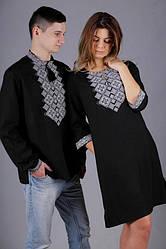Вышиванки для пары на чёрном