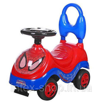 Каталка-толокар для детей YH839B человек паук(Красная,Голубая), фото 2