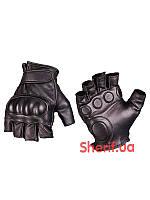 Кожаные тактические беспалые перчатки MIL-TEC Black  12504502