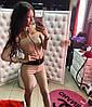 Женский стильный костюм: топ и лосины в расцветках. МД-3-0717, фото 2
