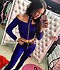Женский стильный костюм: топ и лосины в расцветках. МД-3-0717, фото 3