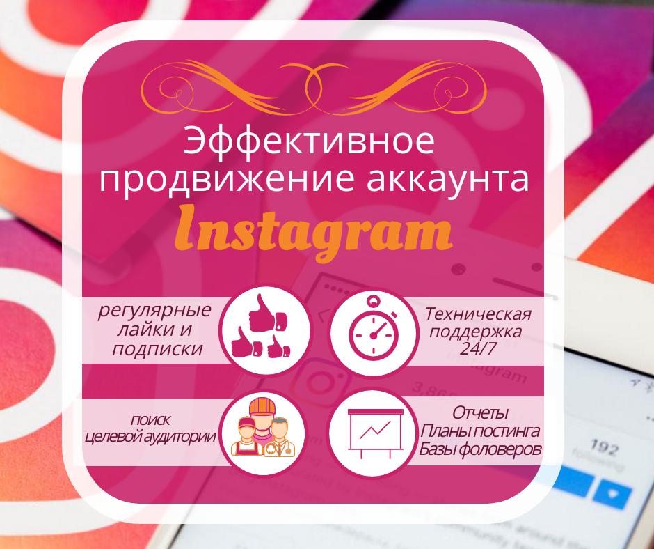 """Продвижение в Instagram: пакет """"Продвижение и поддержка"""""""
