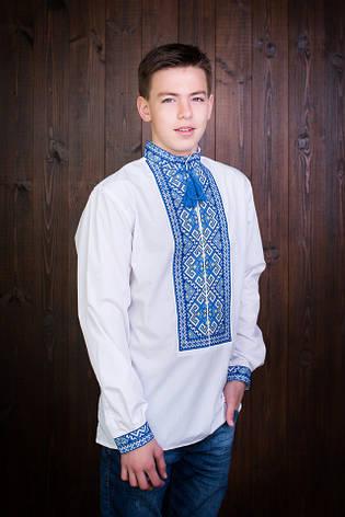 """Оригинальная мужская вышиванка из льна """"Орыс"""", фото 2"""