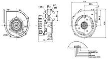 Вентилятор радиальный взрывобезопасный высокотемпературный для газовых котлов ВРВГ-14 (FL130012D-01), фото 3