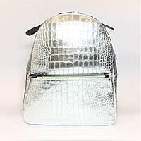 Рюкзак кожаный, Италия, silver, фото 1