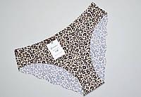 Бесшовные трусики с леопардовым принтом S(44),М(46),L(48),XL(50)