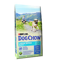 Dog Chow Puppy Large Breed корм для щенков крупных пород с индейкой 14кг, фото 1