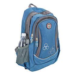 Синие школьные рюкзаки titanum с ортопедической спинкой ARE pl-1505