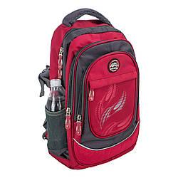 Красный спортивный школьный рюкзак ортопедический titanum ARE