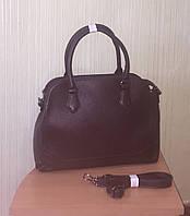 Вместительная каркасная сумка коричневая