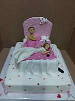 """Свадебный торт с юмором на заказ """" Веселая брачная ночь"""""""