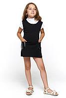 Черный короткий сарафан для девочки 060