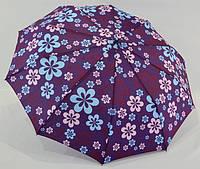 Женский зонт  с большим куполом  анти-ветер полуавтомат  *россыпь цветов*
