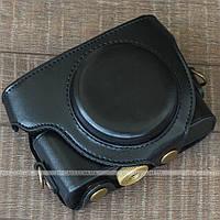 Кожаный чехол для фотоаппарата Sony DSC-RX100, M2, M3, M4 Black