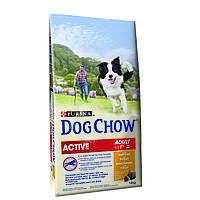 Dog Chow Active 14кг,корм для активных собак живущих на улице, фото 1