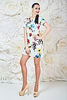 Яркое Платье Белое Матильда Размер 44-50 Бавовна - 38%; Поліестер - 60%; Еластан 2%;
