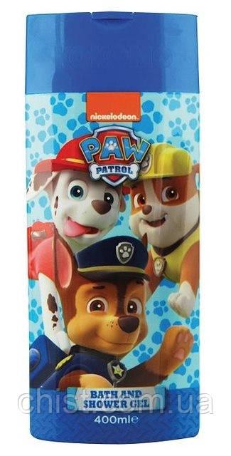 """Paw Patrol Гель для душа и пена для ванны 2 в 1""""Щенячий патруль""""(400 мл) Великобритания"""