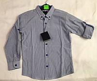 Рубашка для мальчика с длинным рукавом 6-10 лет