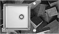 Мойка PALLAS стекло (бетонные блоки)/сталь, край круглый, фото 1