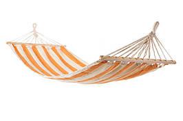 Гамак тканевый с деревянными планками для дачи лежак на деревья гамак 200*80