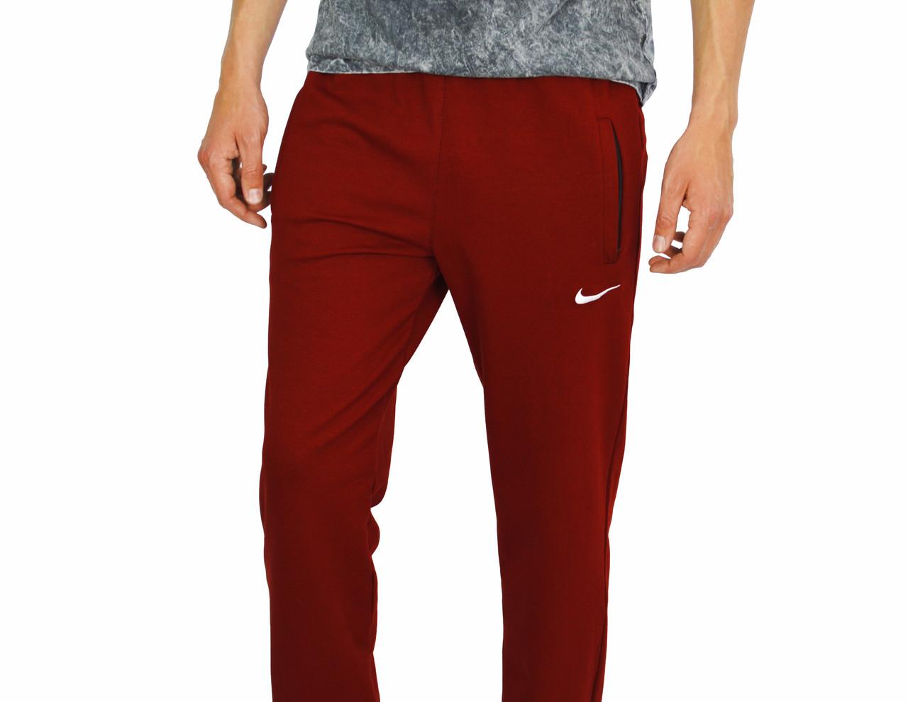 Красные мужские спортивные трикотажные штаны NIKE