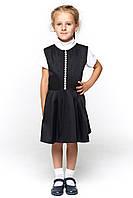 Черный сарафан для девочки в школу 069