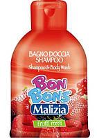 MALIZIA шампунь-гель для душа Лесные ягоды, BON BONS, MIRATO (500 мл) Италия
