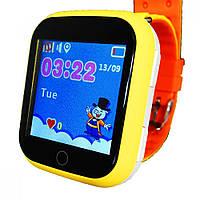 Оригинальные детские  часы Smart watch Q100s (Оранжевый)