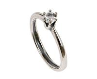 """Кольцо """"Шолемо"""" с фианитом, покрытое серебром (m23730a0)"""