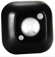 Мини-светильник MotionLight с датчиком движения и освещенности (чёрный)
