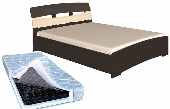 Кровать Марго+Матрас (1650х2200х900)