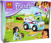 "Конструктор Bela Friends 10534 ""Ветеринарная скорая помощь"" (аналог LEGO Friends 41086), 96 дет​."