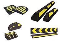 Средства безопасности дорожного движения и оборудования парковок.