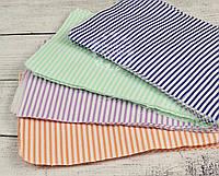 Набор для пэчворка из лоскутов тканей в полосочку разного цвета №16