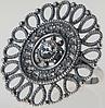 """Кольцо """"Кристоль"""" с кристаллами Swarovski, покрытое серебром (j0543000), фото 2"""