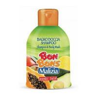 MALIZIA шампунь-гель для душа, Exotic Twist BON BONS, MIRATO (500 мл) Италия